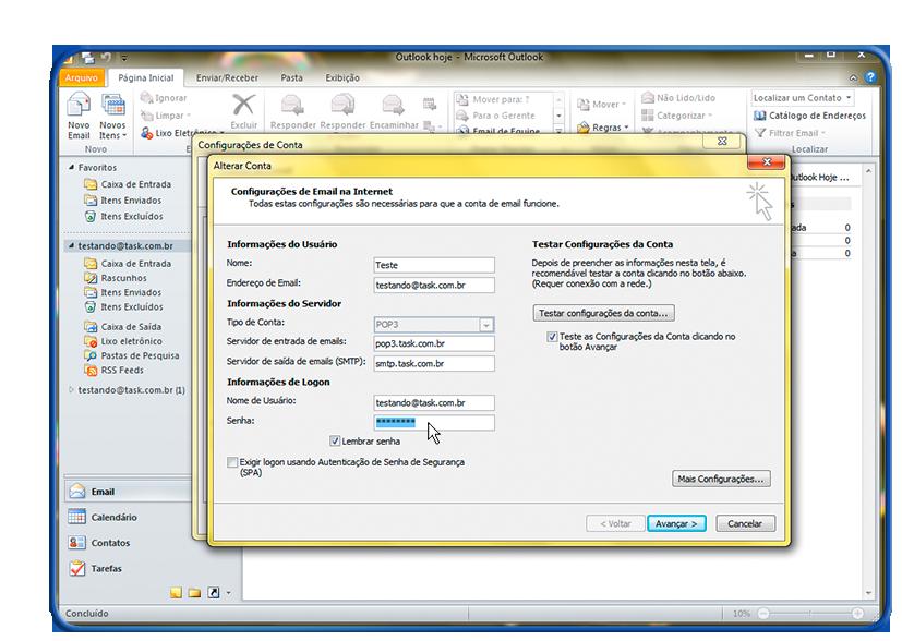 Alterar Senha no Microsoft Outlook 2010 - Wiki.task.com.br 34390d2e572