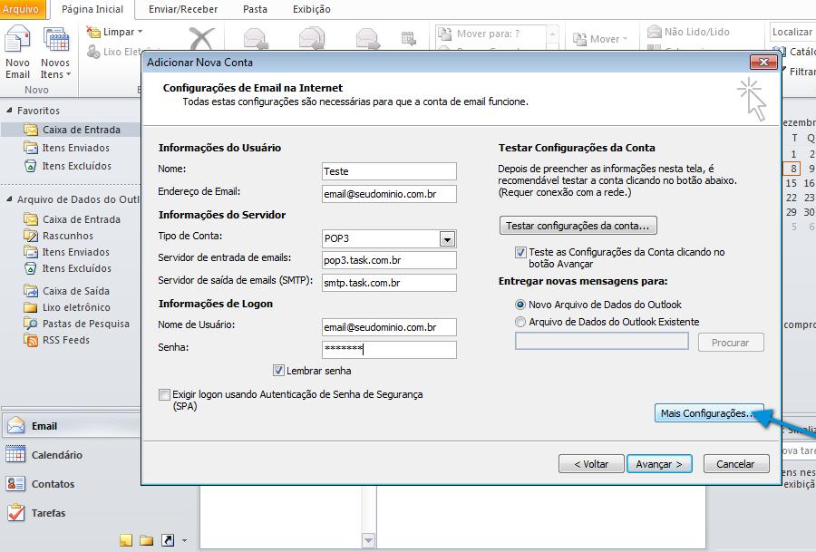Configuração de Conta Microsoft Outlook 2010 - Wiki.task.com.br 47f14eccac0
