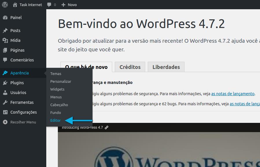 Alterando o código fonte do tema do WordPress - Wiki.task.com.br